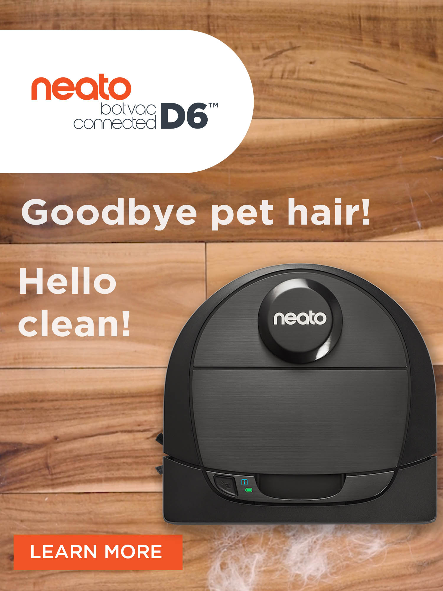 Neato Botvac D6 Connected, D-Shape Design. Cleans Best in Corners