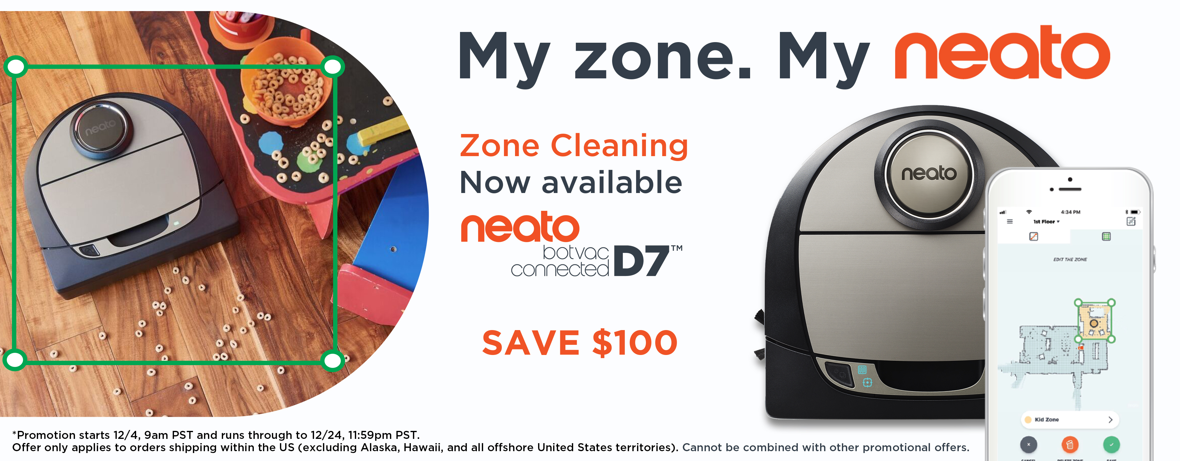 $100 Off Neato Botvac D7 Connected