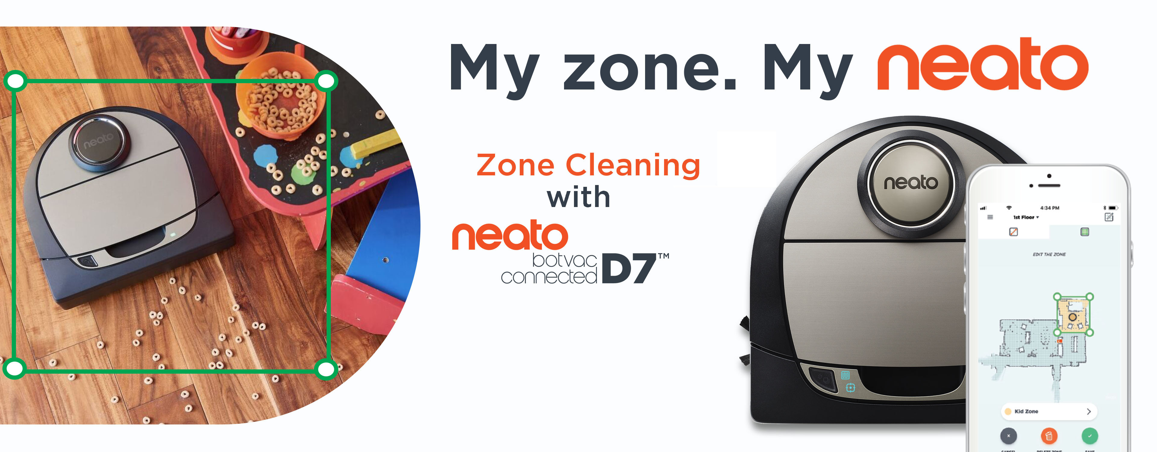 Neato Botvac D7 Connected now with Zone Cleaning