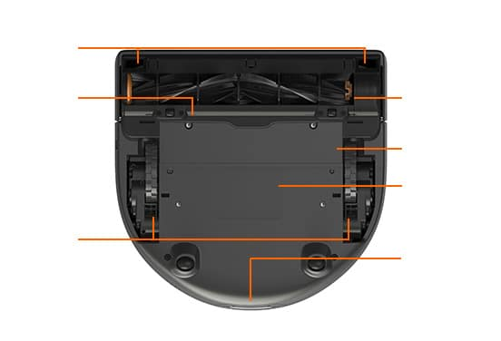 D3 Intelligent Robot Vacuum Bottom View
