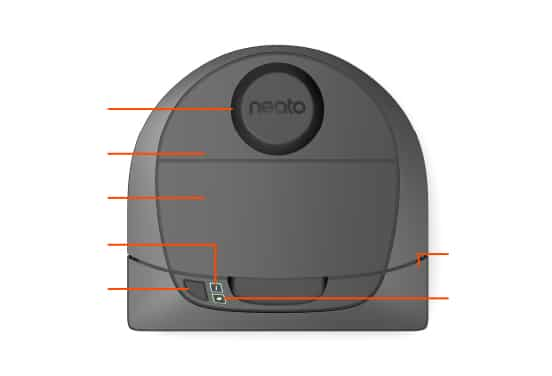 D3 Intelligent Robot Vacuum Top View