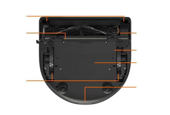D5 Intelligent Robot Vacuum Bottom View