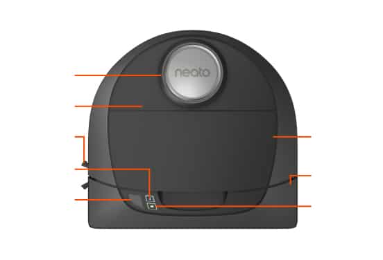 D5 Intelligent Robot Vacuum Top View