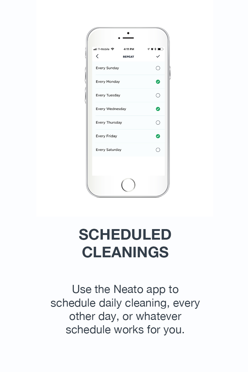 Scheduled<br/>Cleanings