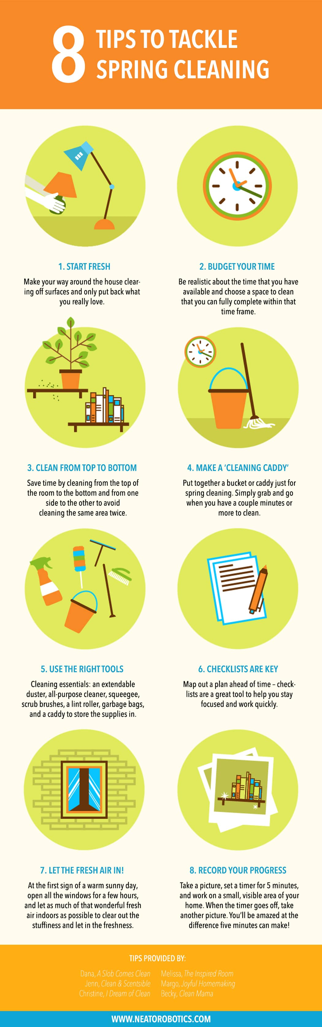 spring cleaning tips from the cleaning experts - neato