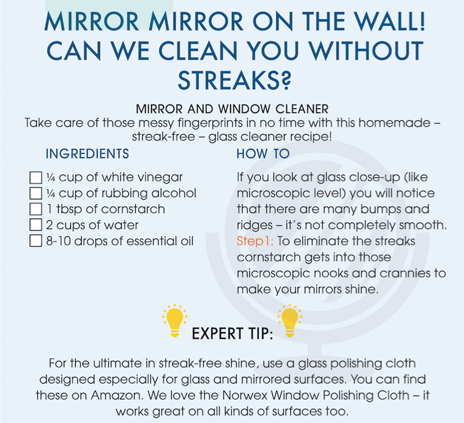 Clean your mirrors and windows with these ingredients
