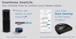 Alexa & Facebook Chatbot for Botvac Connect robots