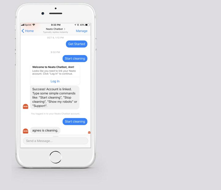 Neato Facebook Chatbot